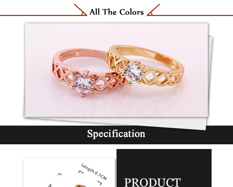 WholesaleHigh QualityNickle Free AntiallergicNew Fashion Jewelry 18K Real AlloyRing For Women  NHKL7589-8