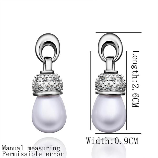 E016 Mixed order brilliant tiny artificial pearl earrings NHKL5427