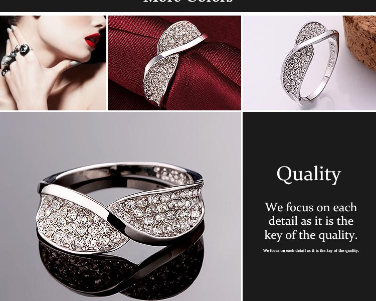 R643-8 Wholesale High Quality Nickle Free Antiallergic New Fashion Jewelry 18K AlloyRing NHKL7594-7