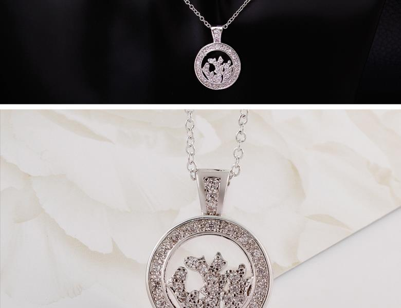 N044-CHigh Quality zircon necklace Fashion Jewelry Free shopping 18K alloy plating necklace NHKL6614-C