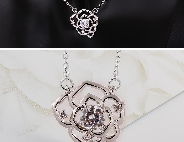 N034-CHigh Quality zircon necklace Fashion Jewelry Free shopping 18K alloy plating necklace NHKL6604-C