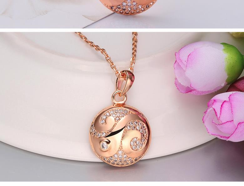 N001-BHigh Quality zircon necklace Fashion Jewelry Free shopping 18K alloy plating necklace NHKL6570-B