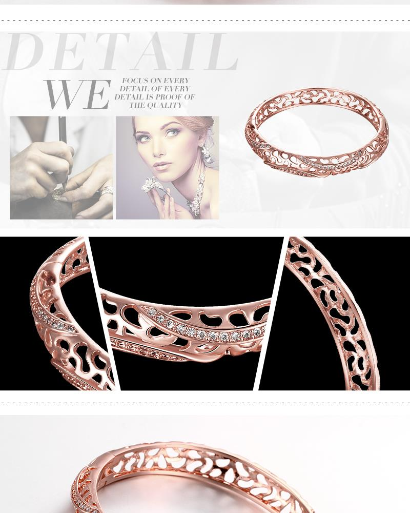 Z039-B Good Quality Nickle Free Antiallergic 2015 New Fashion Jewelry Rose Alloy Bracelets NHKL7228-B