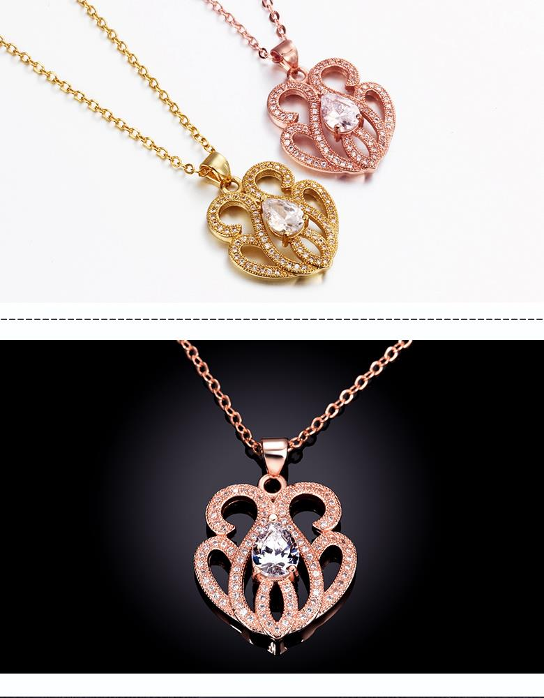 N074-B High Quality zircon necklace Fashion Jewelry Free shopping 18K alloy plating necklace NHKL6642-B