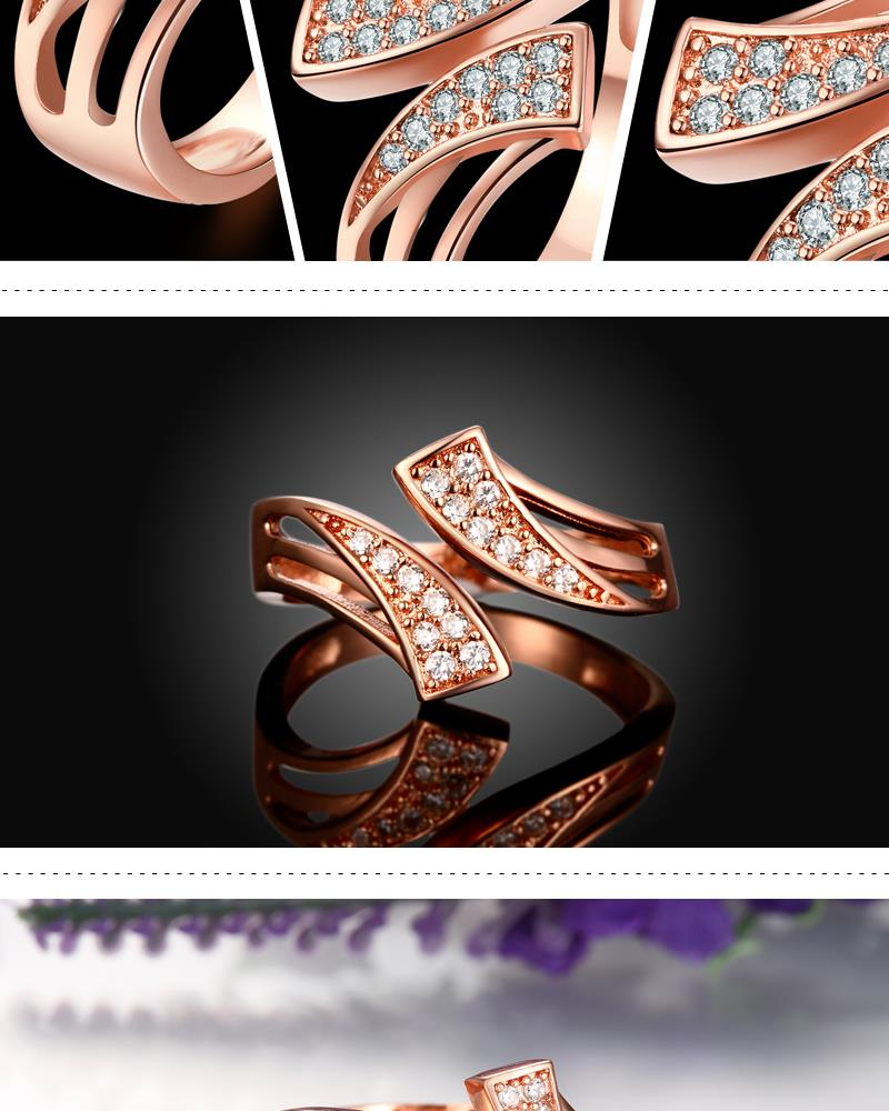 R227-B-8 High Quality Nickle Free Antiallergic New Fashion Jewelry White Plated zircon Ring NHKL6926-B-8