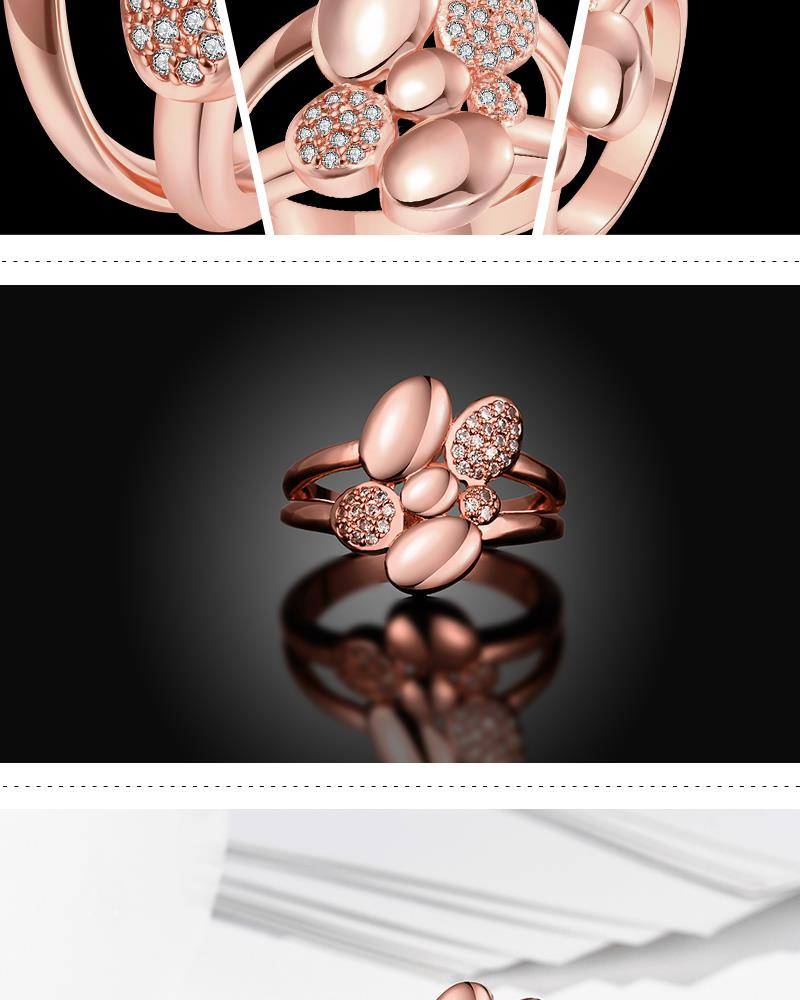 R252-B-8 High Quality Nickle Free Antiallergic New Fashion Jewelry White Plated zircon Ring NHKL6951-B-8