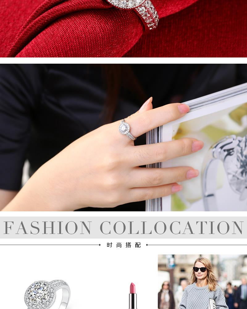 R011-8 Wholesale High Quality Nickle Free Antiallergic New Fashion Jewelry K Alloy Ring NHKL5887-8