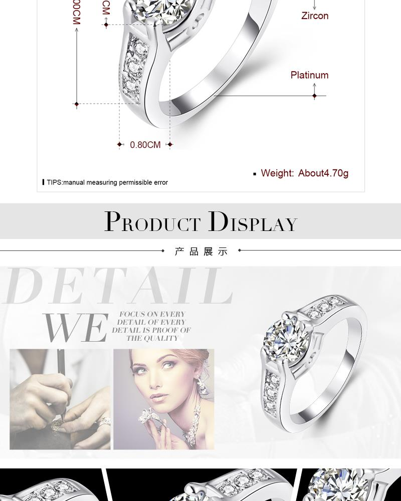 R045-B-8 Wholesale High Quality Nickle Free Antiallergic New Fashion Jewelry K Alloy Ring NHKL5920-B-8