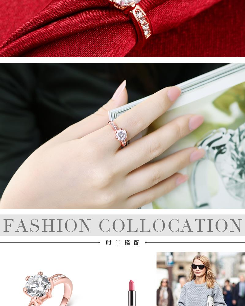 R023-8 Wholesale High Quality Nickle Free Antiallergic New Fashion Jewelry K Alloy Ring NHKL5899-8