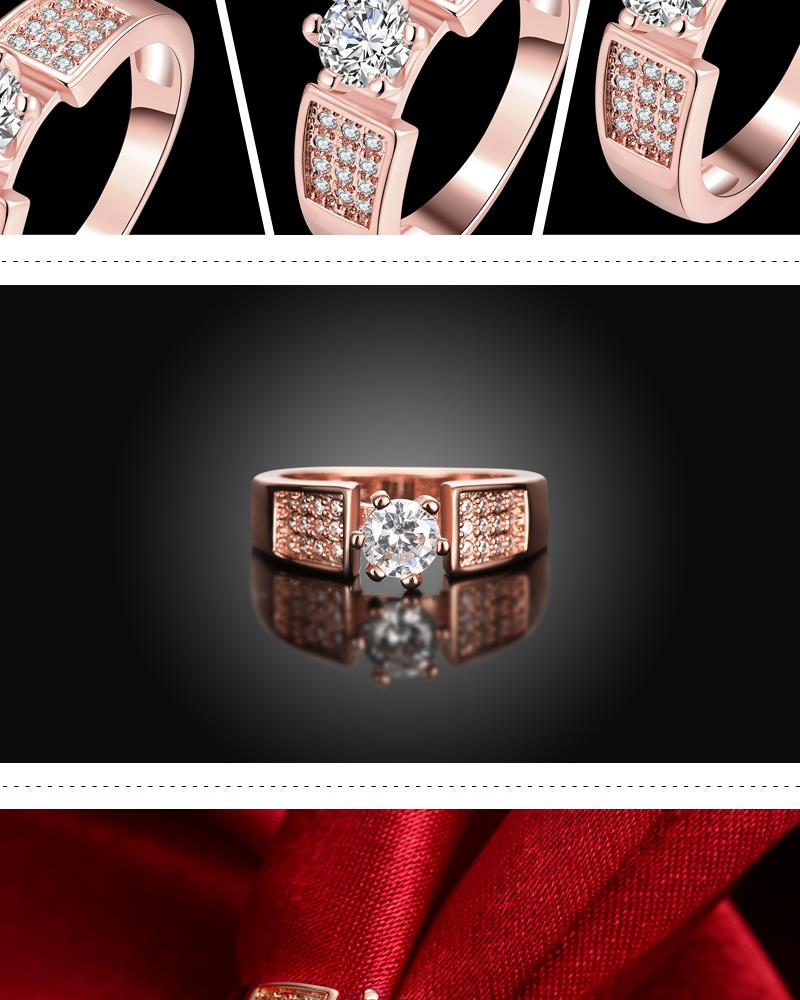 R332-B   High Quality Nickle Free Antiallergic New Fashion Jewelry White Plated zircon Ring NHKL7031-B-8