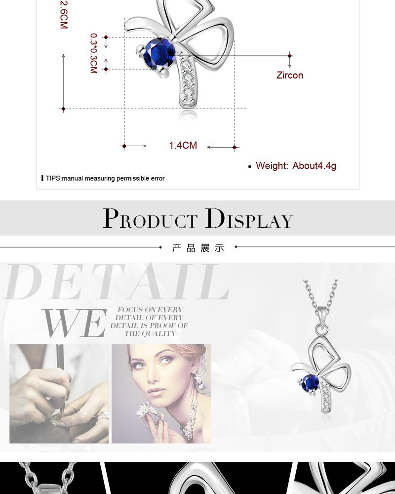 N107-C   Wholesale Nickle Free Antiallergic 18K Real Alloy Necklace pendants New Fashion Jewelry NHKL6669-C