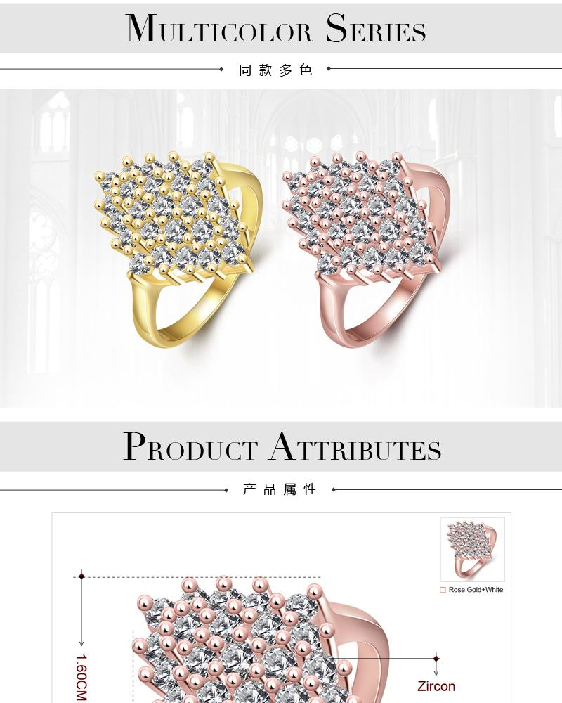 R349-B-8  High Quality Nickle Free Antiallergic New Fashion Jewelry White Plated zircon Ring NHKL7048-B-7