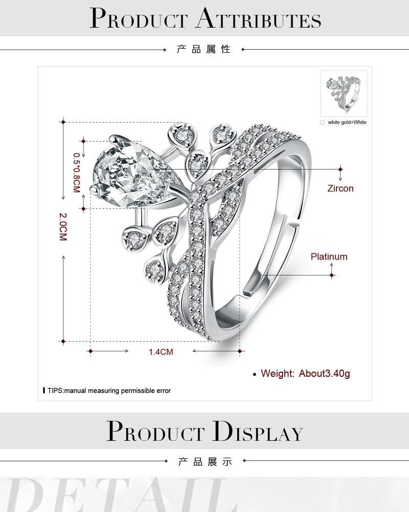 R001 Wholesale High Quality Nickle Free Antiallergic New Fashion Jewelry White Alloy Ring NHKL8542