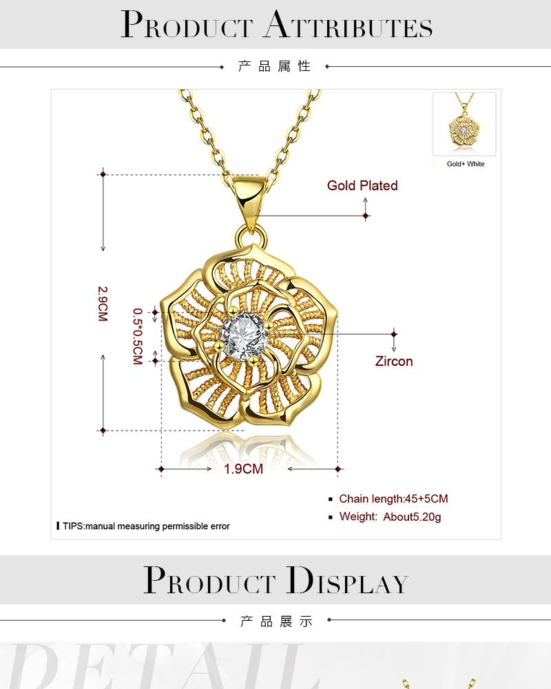 N124-A High Quality zircon necklace Fashion Jewelry Free shopping 18K alloy plating necklace NHKL6686-A