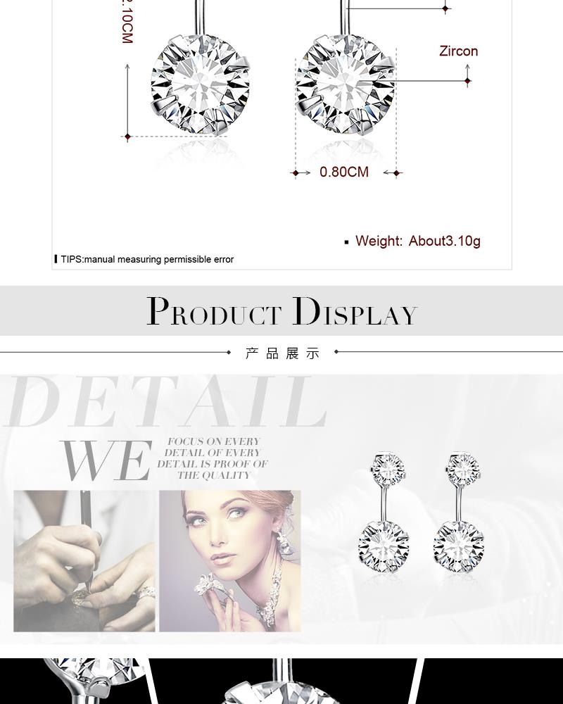 E007-B Wholesale Nickle Free Antiallergic 18K Alloy Earrings For Women New Fashion Jewelry NHKL9180-B