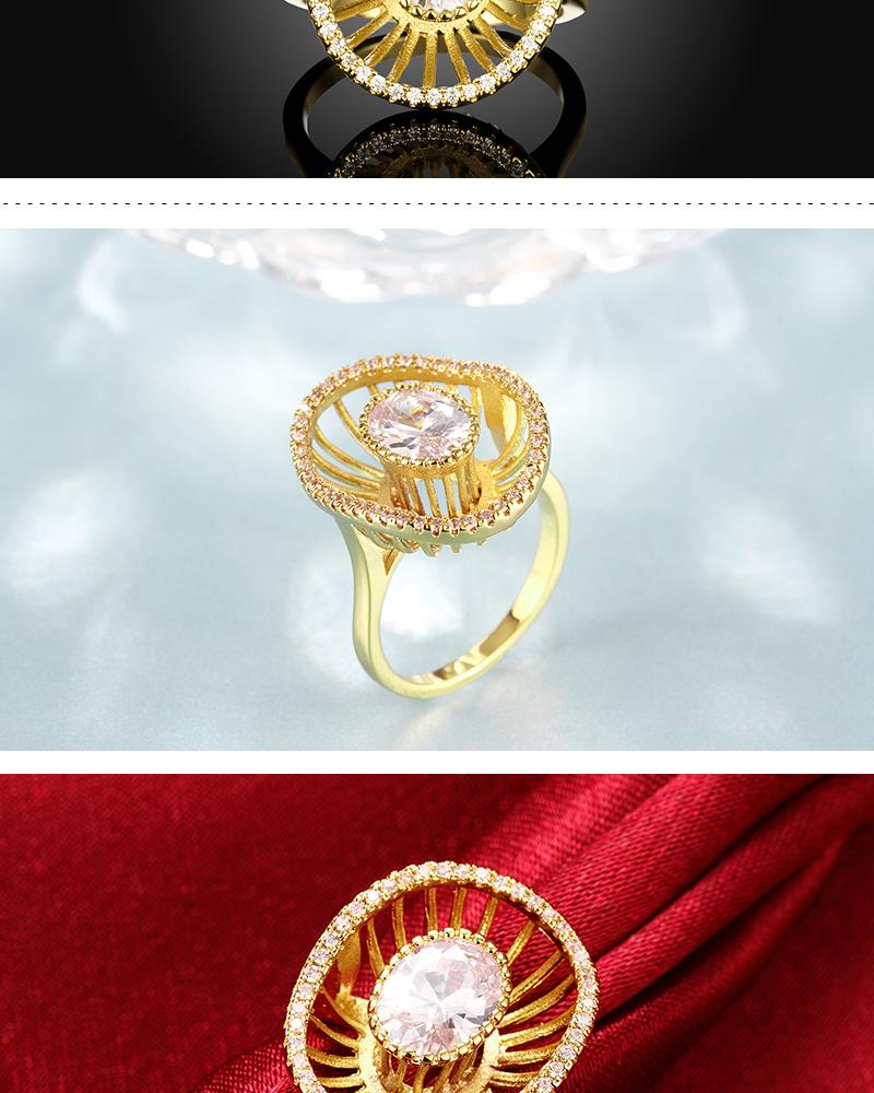 R421-A-8 High Quality Nickle Free Antiallergic New Fashion Jewelry White Plated zircon Ring NHKL7119-A-8