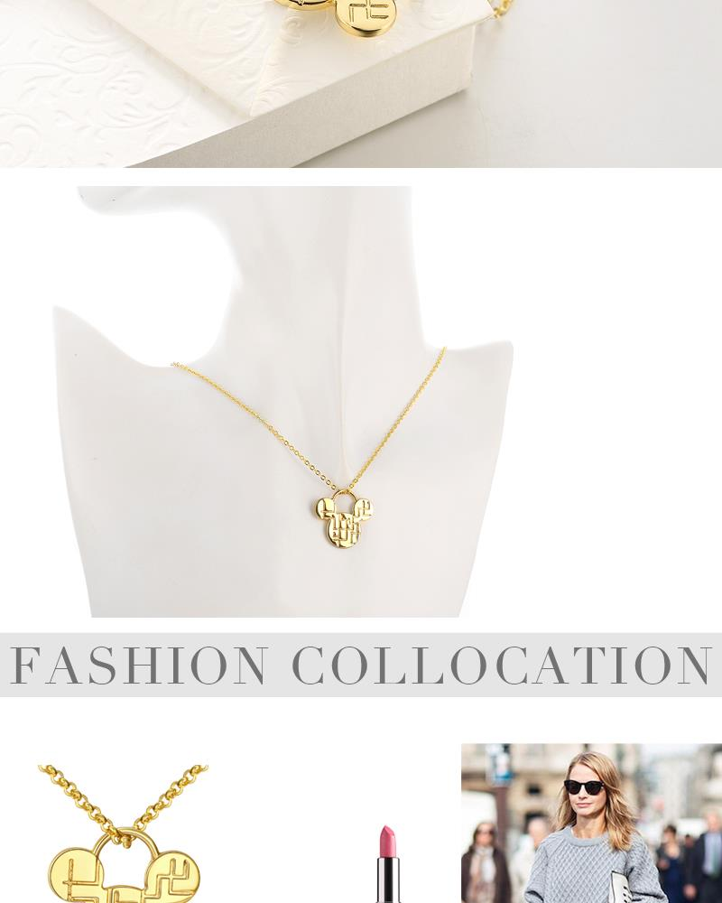 N037 Wholesale Nickle Free Antiallergic Real Alloy Necklace pendants New Fashion Jewelry NHKL5860