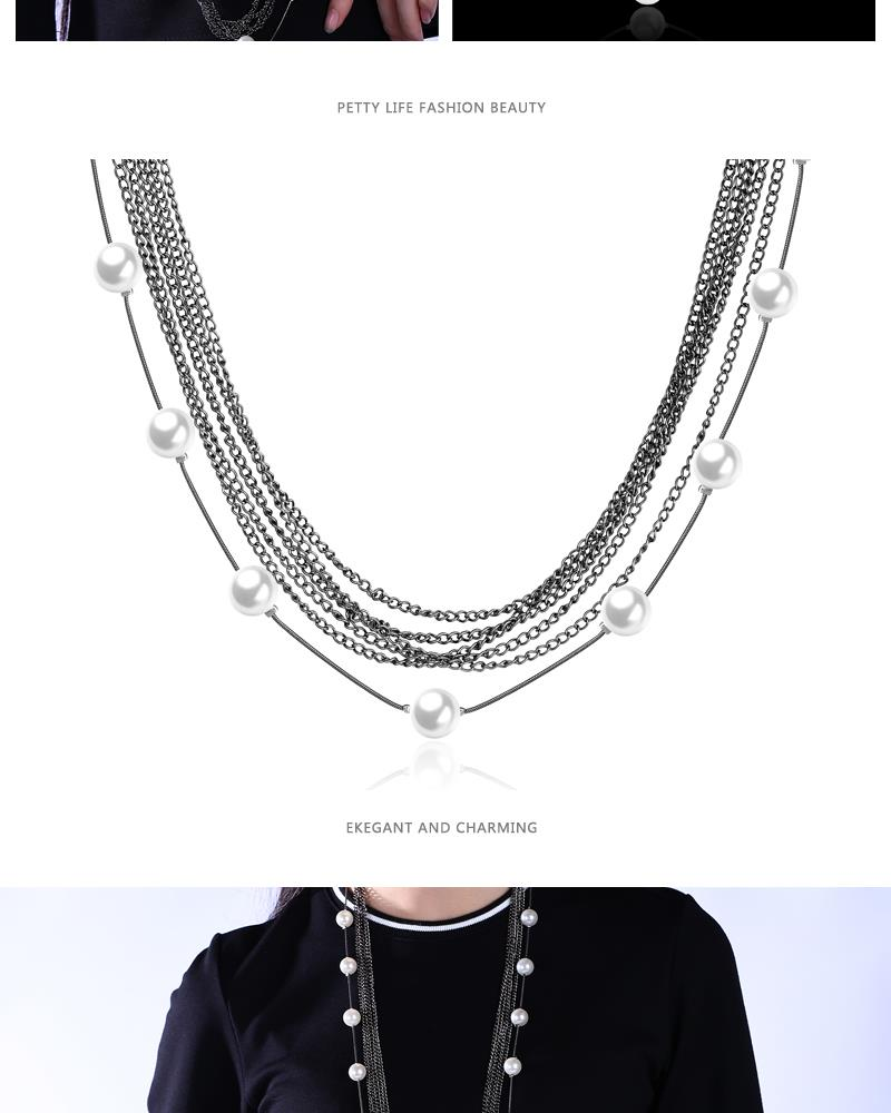 Charm Vintage Women Pendant Chain Imitated crystal Choker Chunky Collar Necklace FSN174 NHKL9006