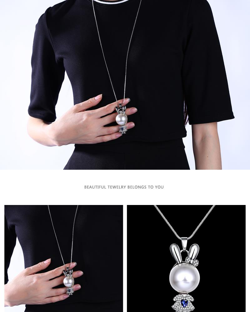 Charm Vintage Women Pendant Chain Imitated crystal Choker Chunky Collar Necklace FSN150 NHKL8991B