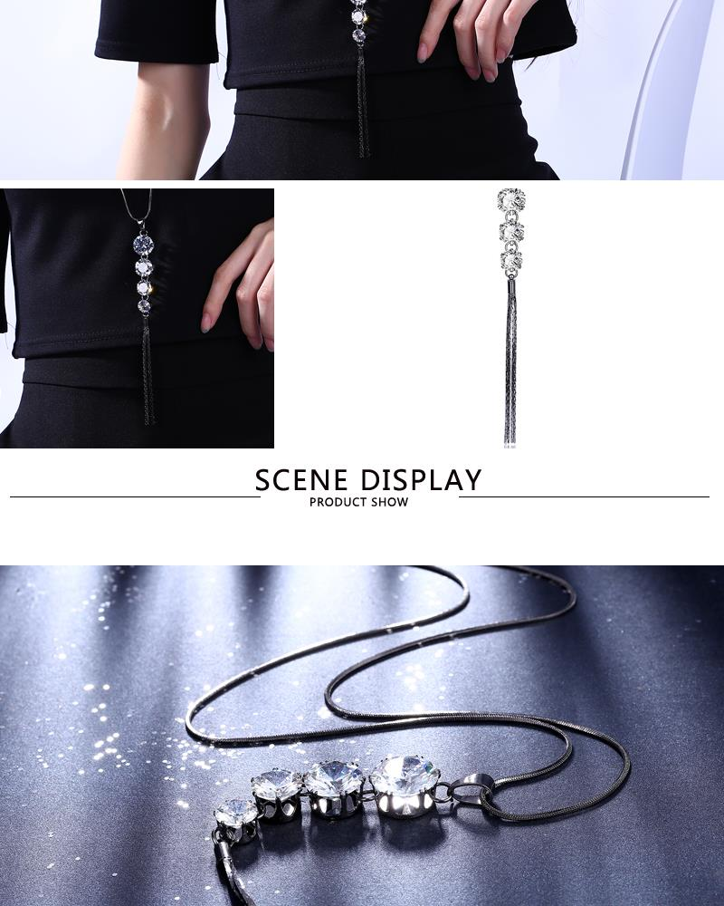 Charm Vintage Women Pendant Chain Imitated crystal Choker Chunky Collar Necklace FSN115 NHKL8962B