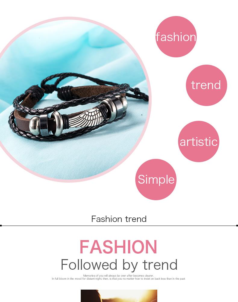 NEW Jewelry fashion Leather Cute Infinity Charm Bracelet Alloy lots Style PickD NHKL8670