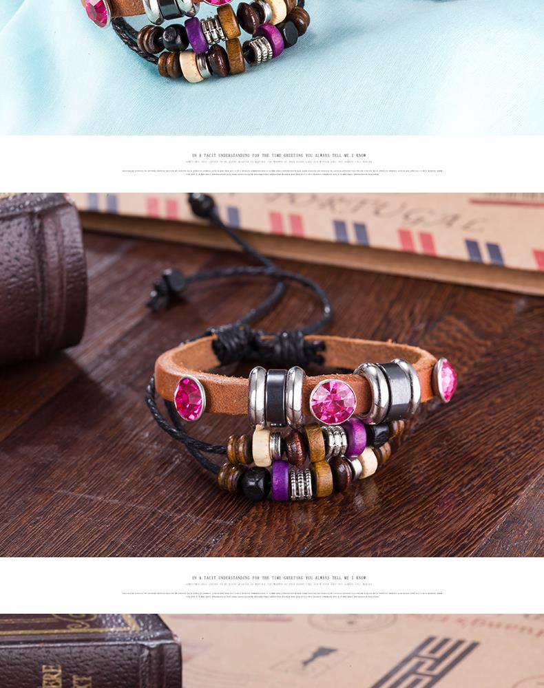 NEW Jewelry fashion Leather Cute Infinity Charm Bracelet Alloy lots Style PickD NHKL8708-D
