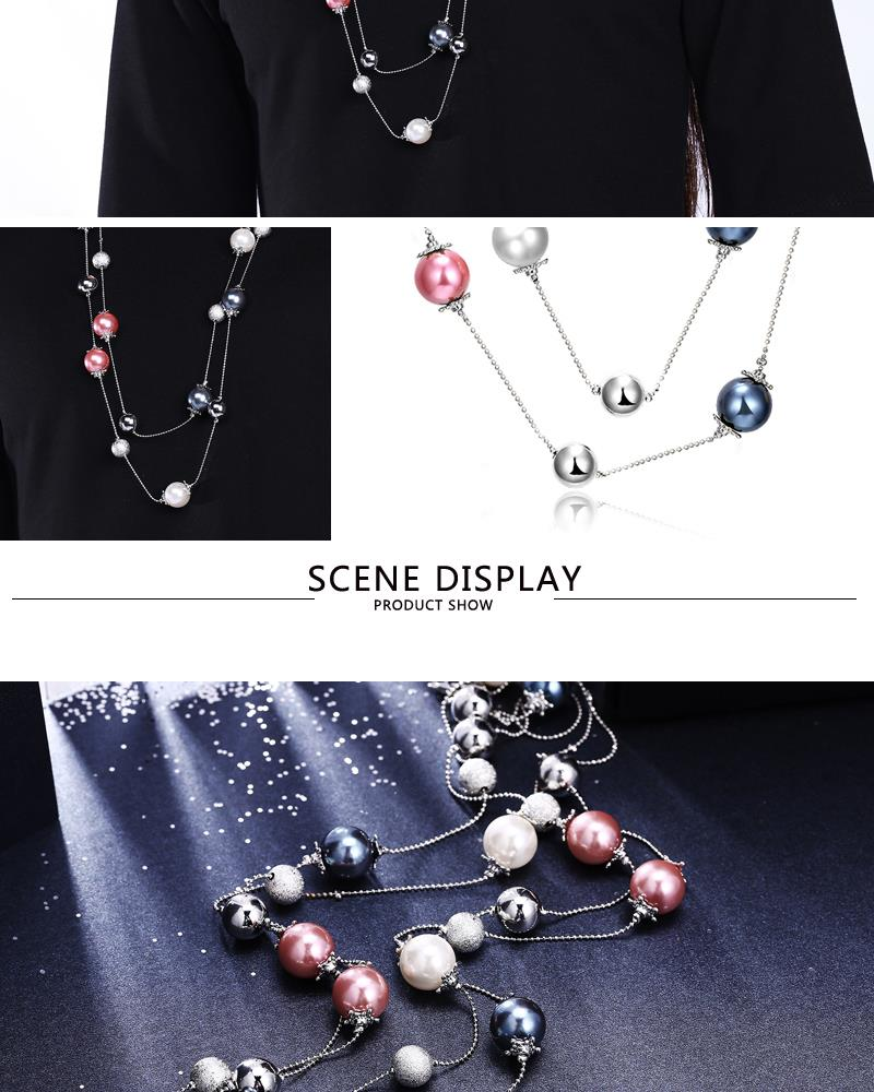 Charm Vintage Women Pendant Chain Imitated crystal Choker Chunky Collar Necklace FSN098 NHKL8948-B