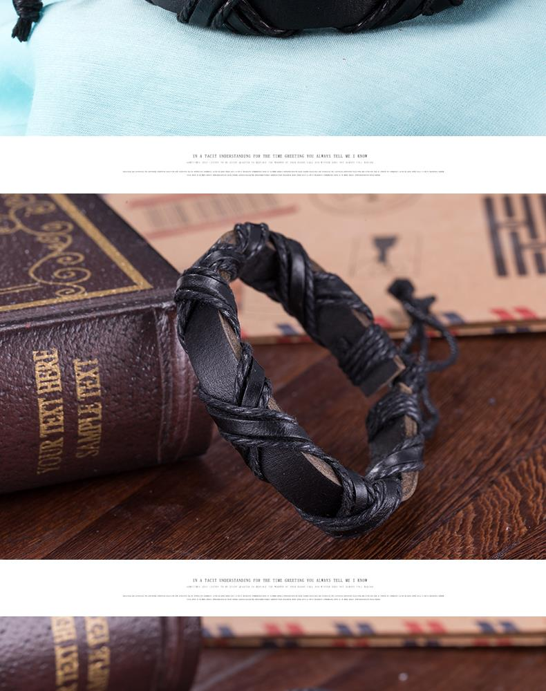 NEW Jewelry fashion Leather Cute Infinity Charm Bracelet Alloy lots Style PickD NHKL8776-B
