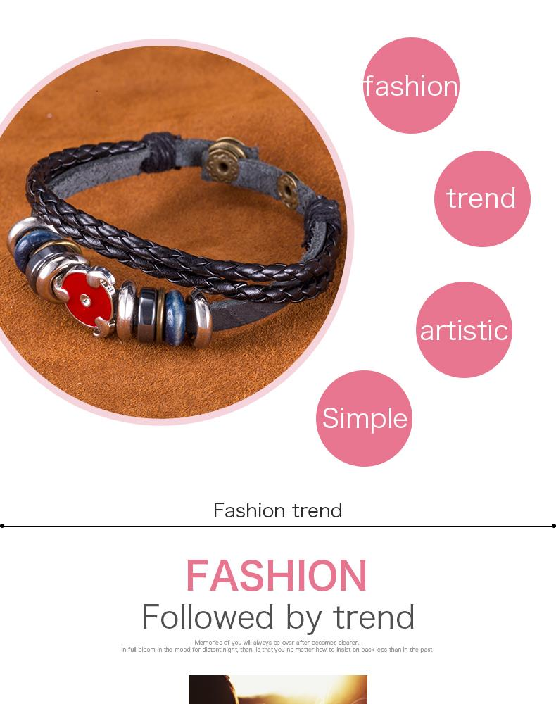NEW Jewelry fashion Leather Cute Infinity Charm Bracelet Alloy lots Style PickD NHKL8646-B