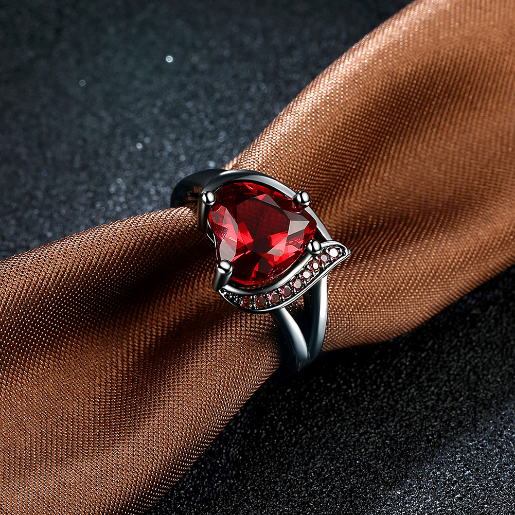 cherry ring products beauty red size amber floral rings adjustable maroon baltic
