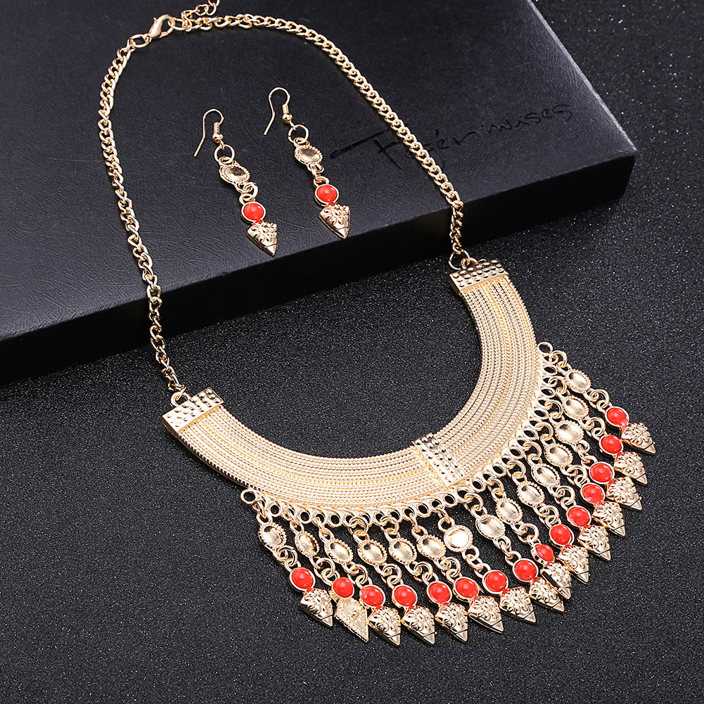 Fashion Glass Jewelry Set NHKL11087-D